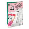 Kép 2/8 - Színezőkönyv filctollkészlettel mappában (rózsaszín)