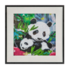 Kép 1/4 - Panda mama és kicsinye - gyémántszemes kirakó