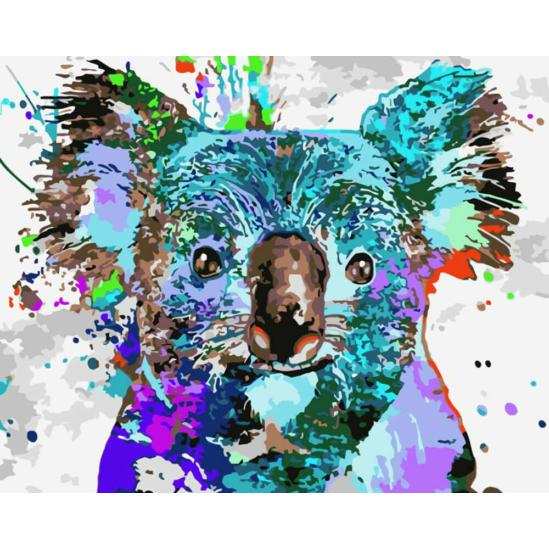 Színes koala - számfestő készlet