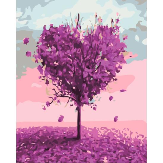 Szeretetfa - számfestő készlet