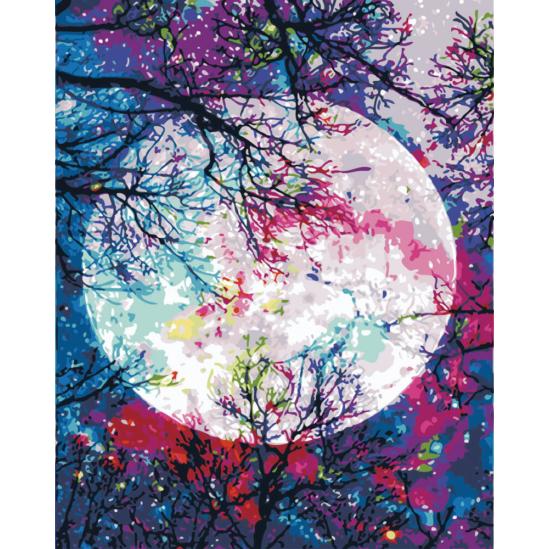 Telihold színesben - számfestő készlet