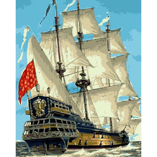 Vitorlás hajó - számfestő készlet