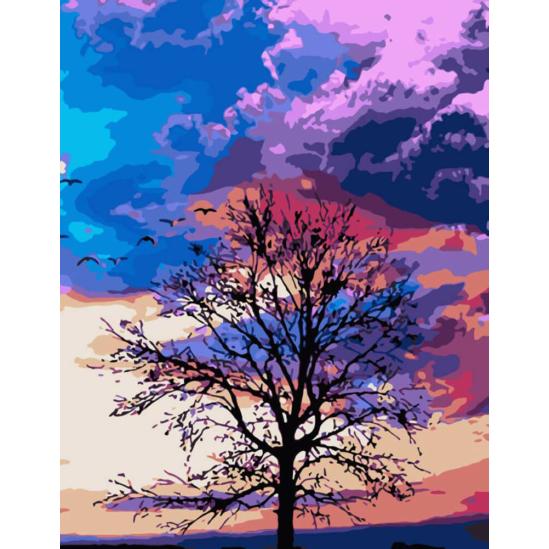 Az ég színei - számfestő készlet