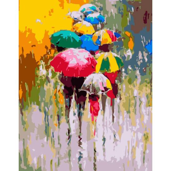 Esernyők - számfestő készlet