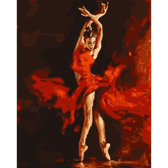 Szenvedélyes tánc - számfestő készlet