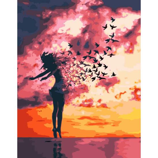 A lélek szárnyalása - számfestő készlet