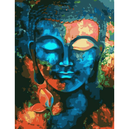 Buddha mosolya - számfestő készlet