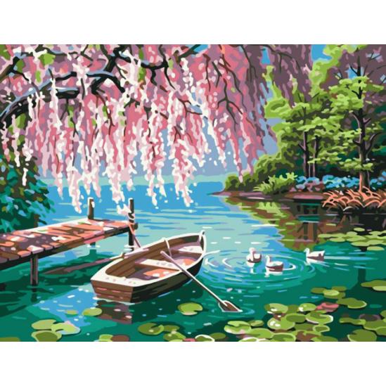 Csónak a vizen - számfestő készlet