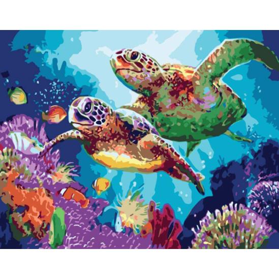 Teknősök - számfestő készlet
