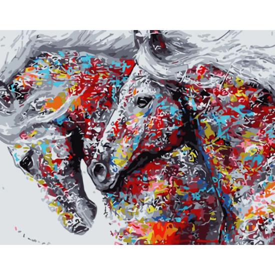 Színes lópár - számfestő készlet