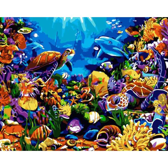 A tenger mélyén - számfestő készlet