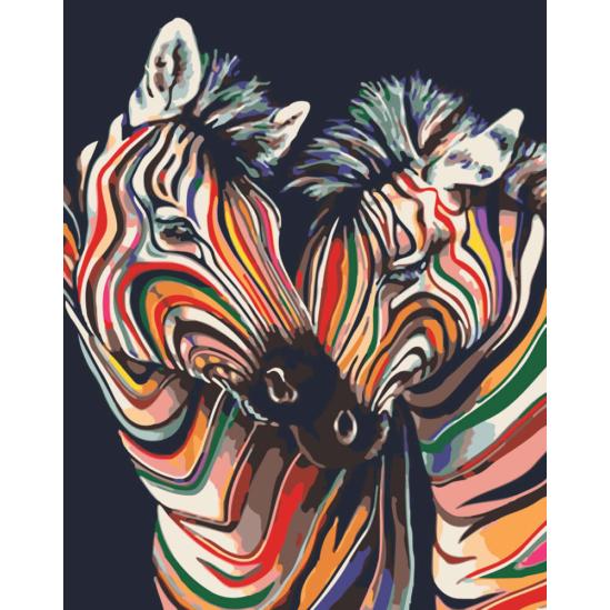 Zebrák színesben - számfestő készlet