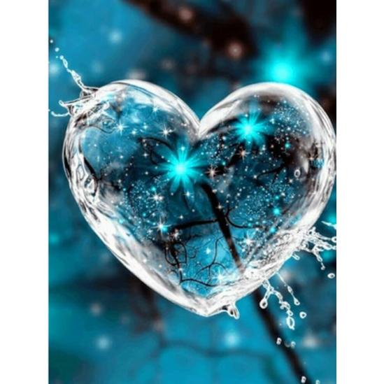 Szívcsillanás - gyémántszemes kirakó