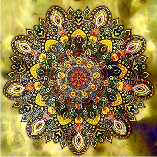 Fény mandala - gyémántszemes kirakó