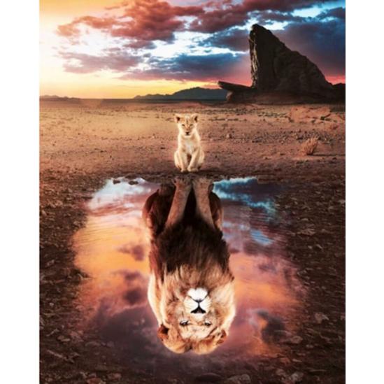 Önbizalom (oroszlán) - gyémántszemes kirakó