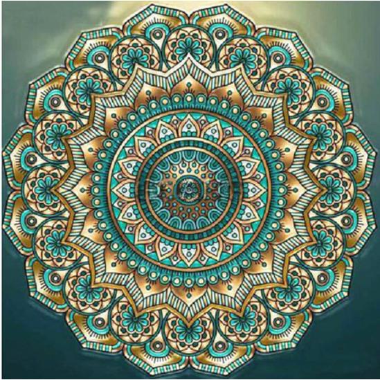 Békesség mandala - gyémántszemes kirakó