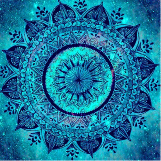 Lelki béke mandala - gyémántszemes kirakó