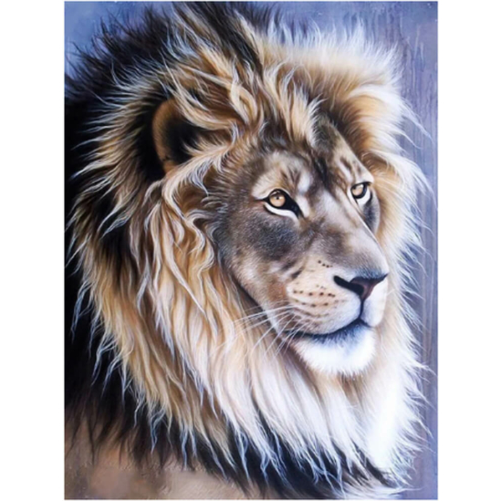 Fenséges oroszlán - gyémántszemes kirakó