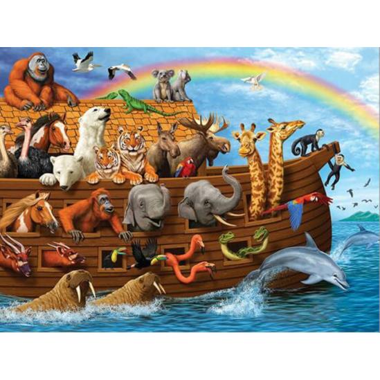 Noé bárkája - gyémántszemes kirakó