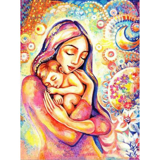 Anyai szeretet - gyémántszemes kirakó