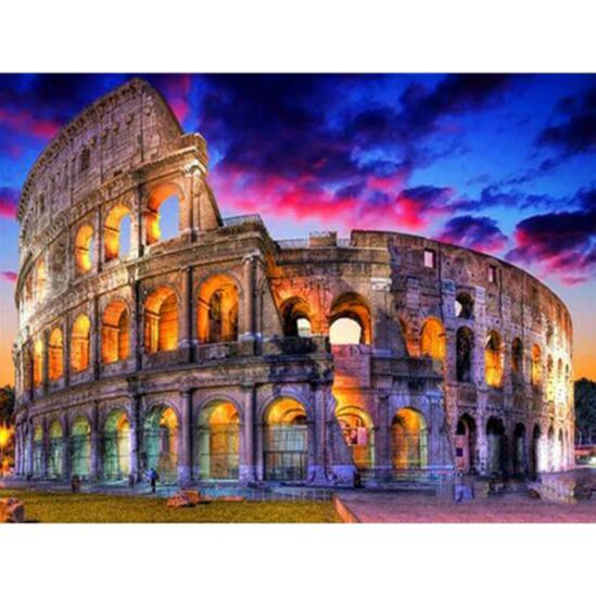 Naplemente a Colosseumnál - gyémántszemes kirakó