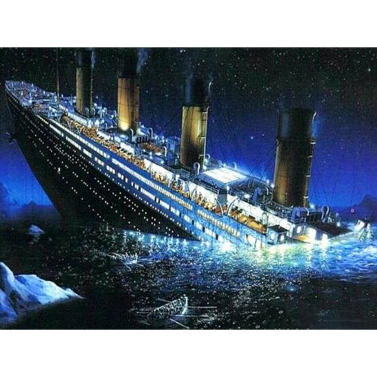 Süllyedő Titanic - gyémántszemes kirakó