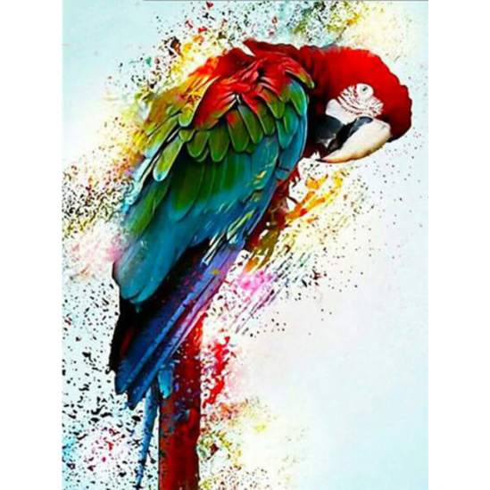 Papagáj - gyémántszemes kirakó