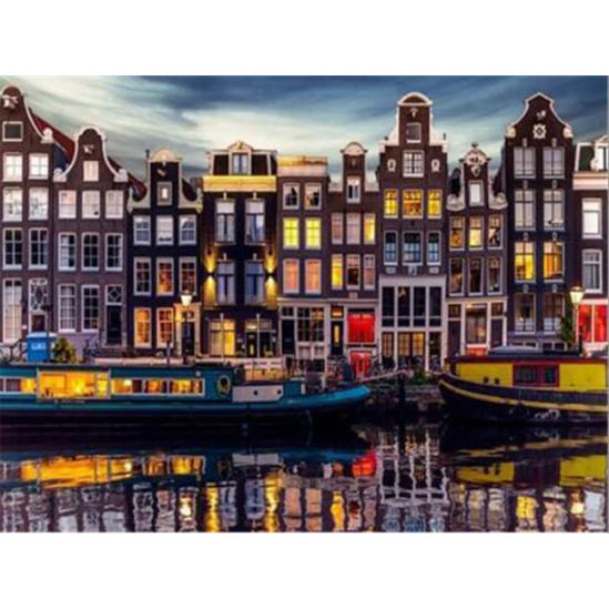 Holland város - gyémántszemes kirakó