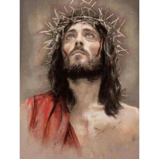 Jézus töviskoszorúval - gyémántszemes kirakó