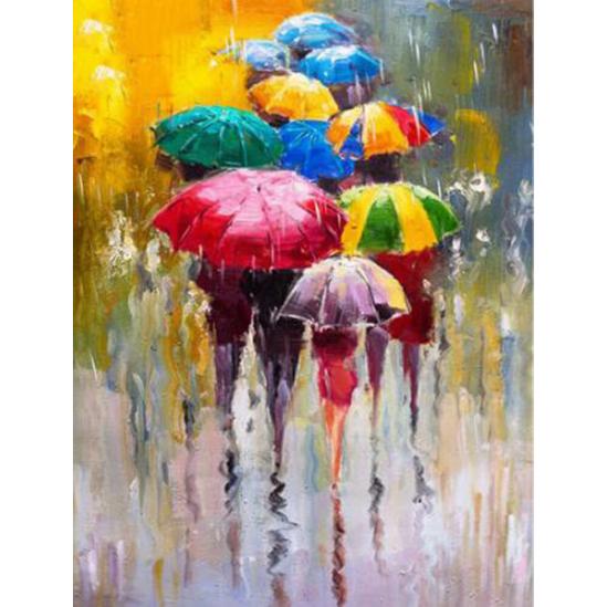 Esernyők - gyémántszemes kirakó