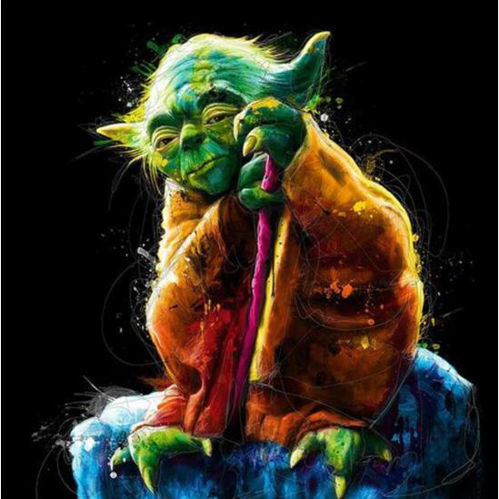 Yoda mester - Star wars - gyémántszemes kirakó