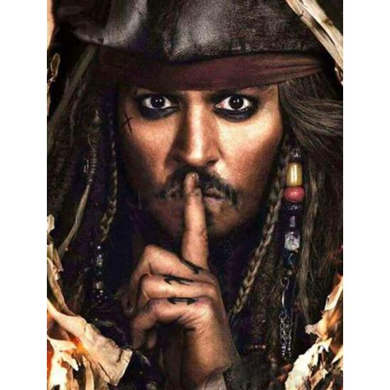 Jack Sparrow - Karib tenger kalózai - gyémántszemes kirakó