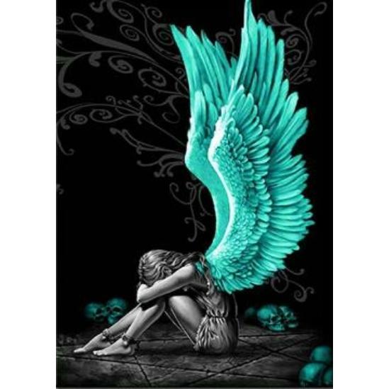 Kékszárnyú angyal - gyémántszemes kirakó