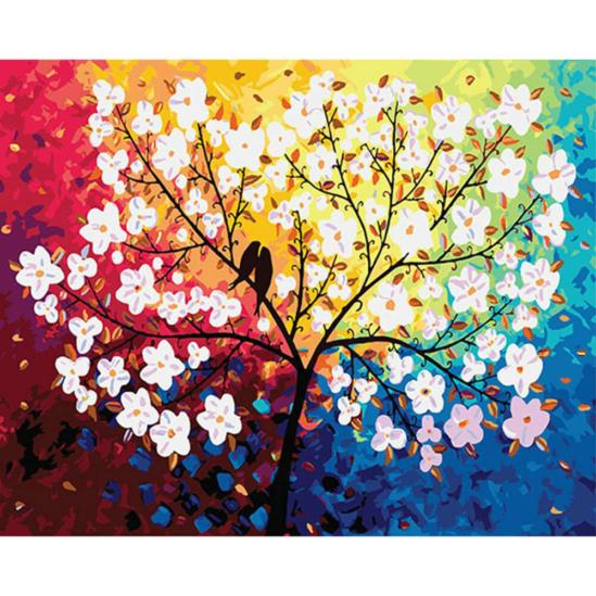 Virágzó fa - számfestő készlet