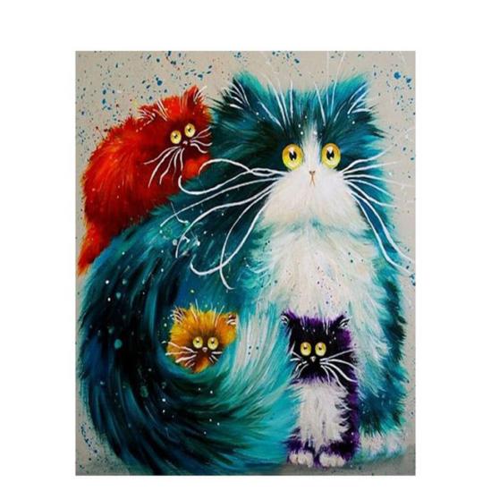 Bolondos cicák - számfestő készlet