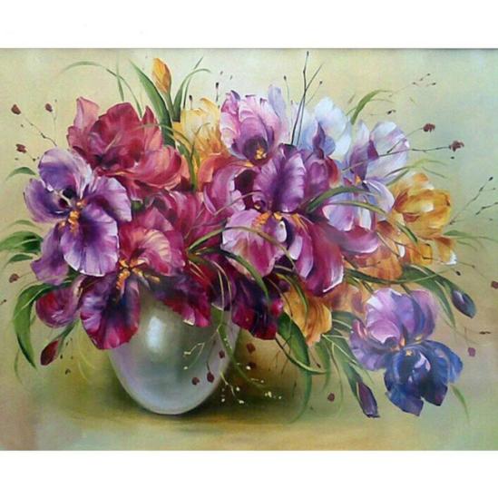 Virágcsokor - számfestő készlet