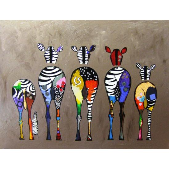 Zebrák - számfestő készlet