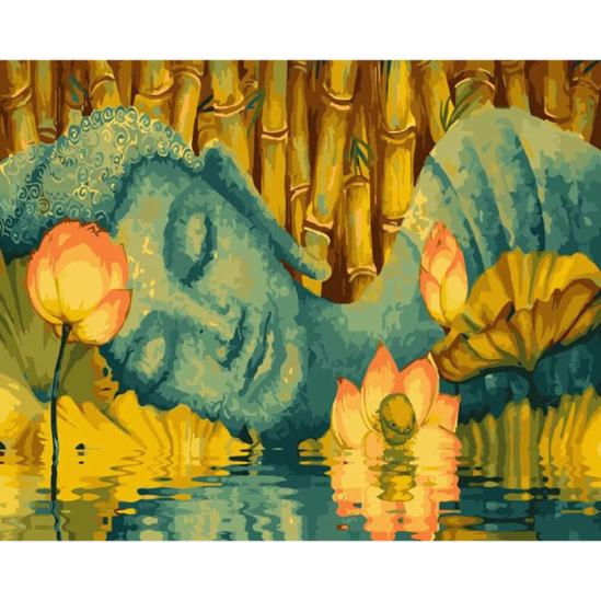 Fekvő Buddha - számfestő készlet