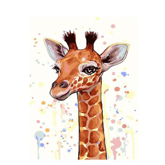 Derűs zsiráf - számfestő készlet