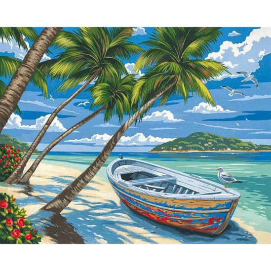 Karibi érzés - számfestő készlet