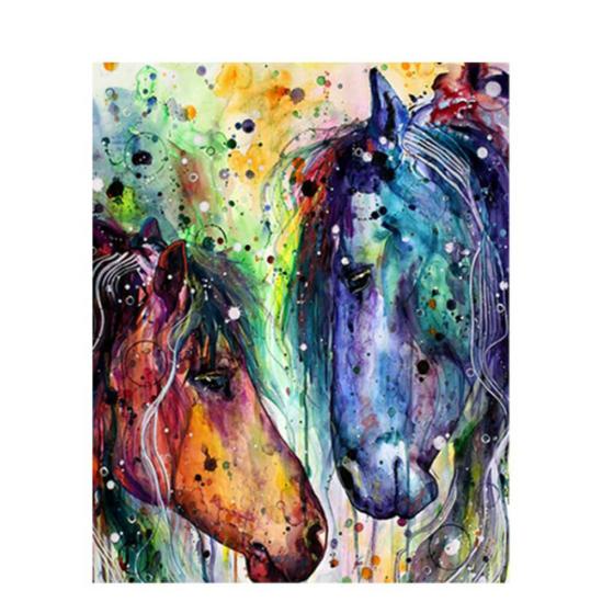 Színes lófejek - számfestő készlet