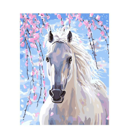 Fehér ló - számfestő készlet
