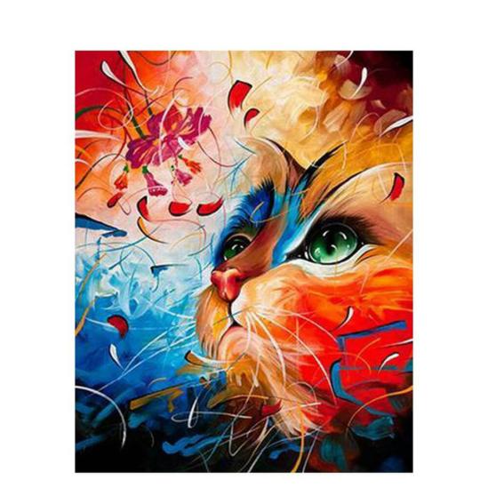 Macska álom - számfestő készlet