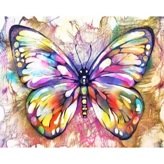 Színes pillangó - számfestő készlet