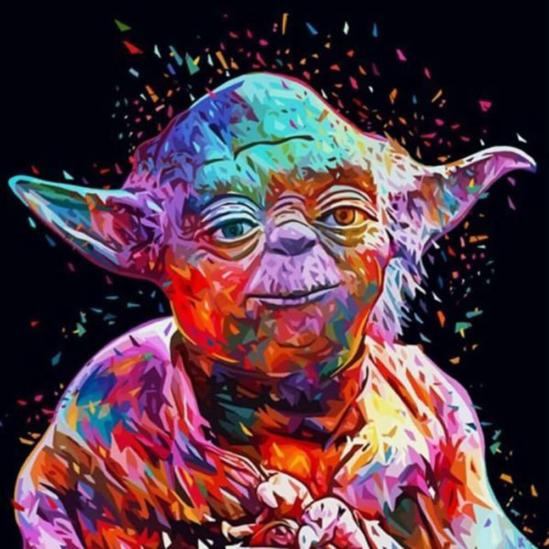 Yoda - számfestő készlet