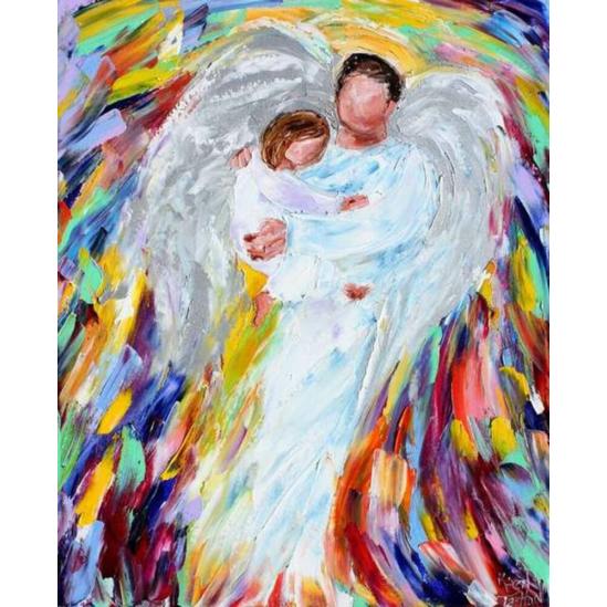 Angyali gondoskodás - számfestő készlet