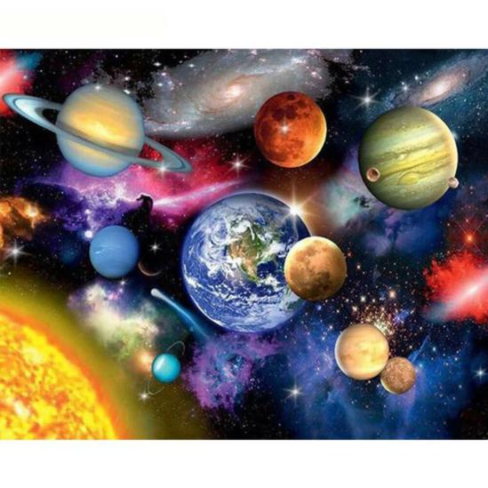 Univerzum - számfestő készlet