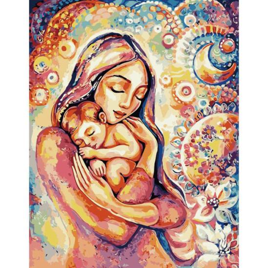 Anyai szeretet - számfestő készlet