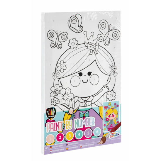 Kislány - számfestő készlet