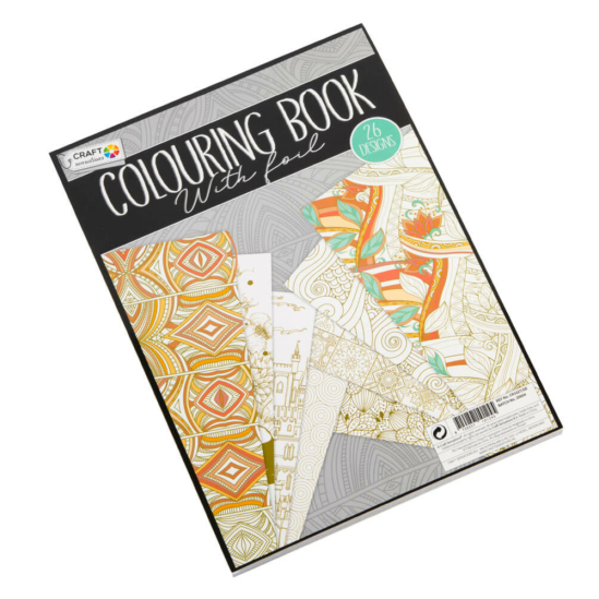 Színezőkönyv aranyfóliás kontúrokkal